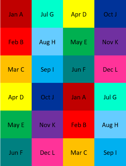 12 Color Layout