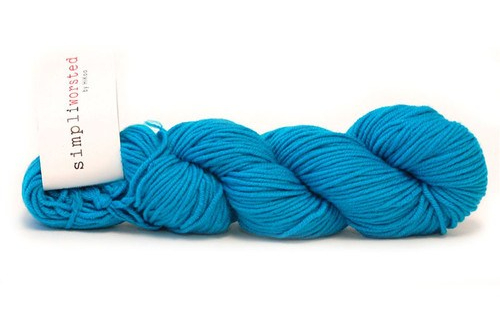 Wool Blend Yarn Hikoo Simpliworsted in Peacock